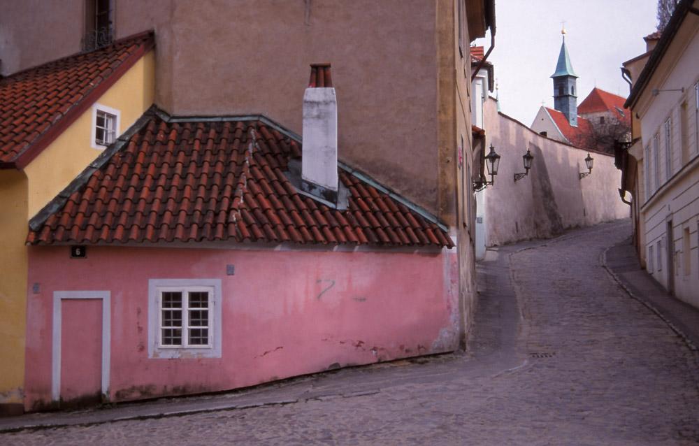 Street scene in Prague's Nový Svět (New World) quarter
