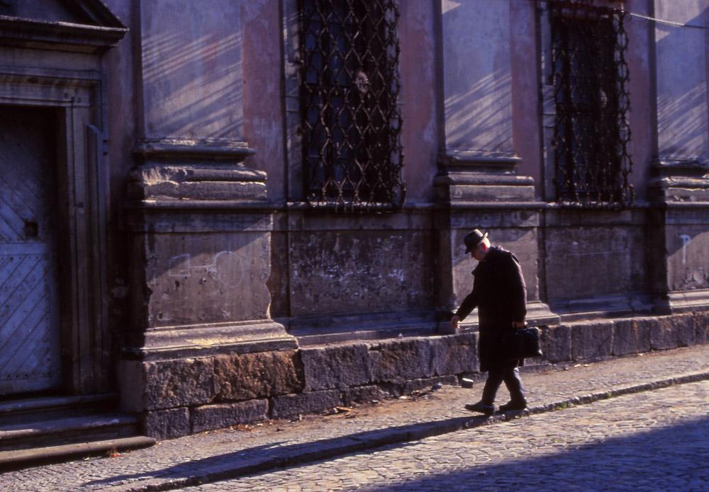 Street scene in Olomouc, a historic city in central Moravia