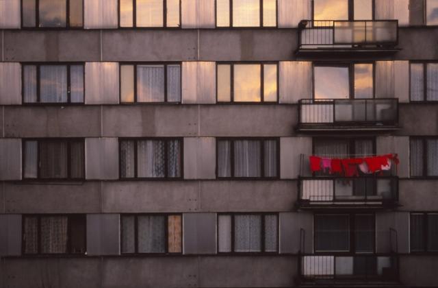 Laundry day at a neighbour's apartment, České Budějovice
