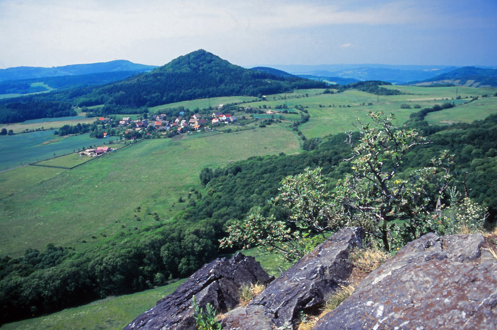 Ancient volcanic landscape in the Central Bohemian Uplands