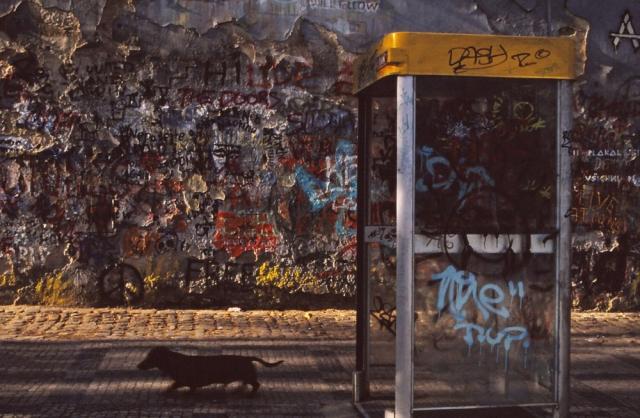 Lennon Wall, Prague, Czechoslovakia, 1992