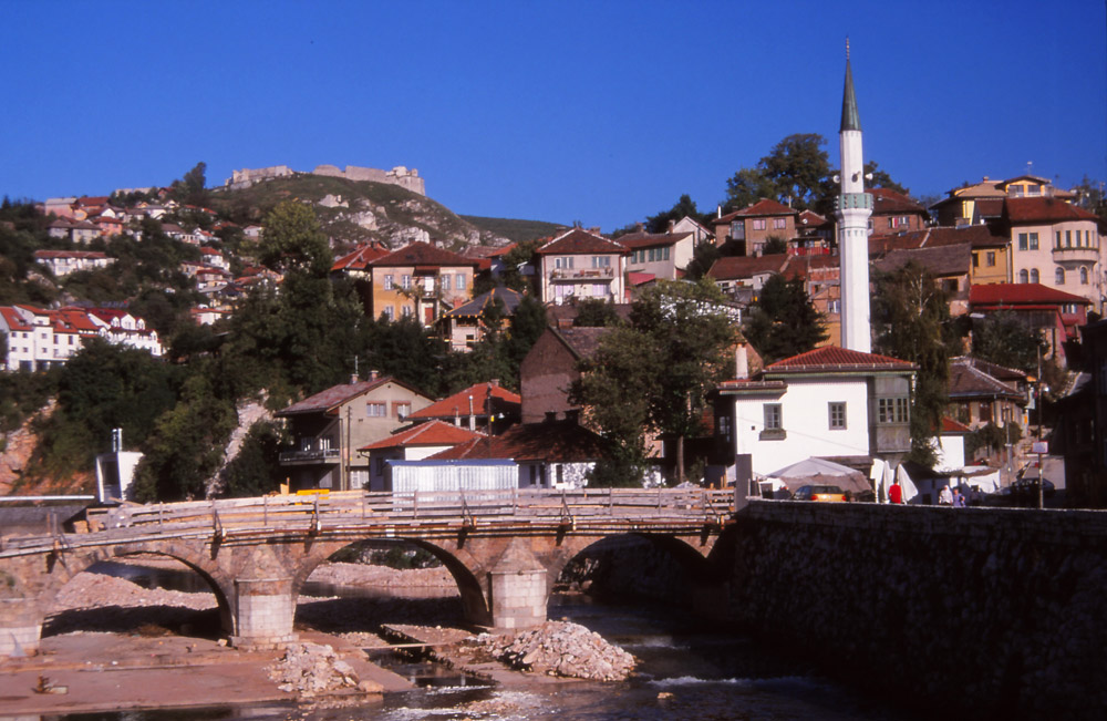 Bosnia, 1999: A ruined citadel looms over Sarajevo's old town