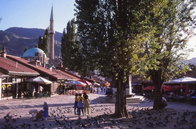 Bosnia, 1999: A scene in Baščaršija, Sarajevo's old Turkish district