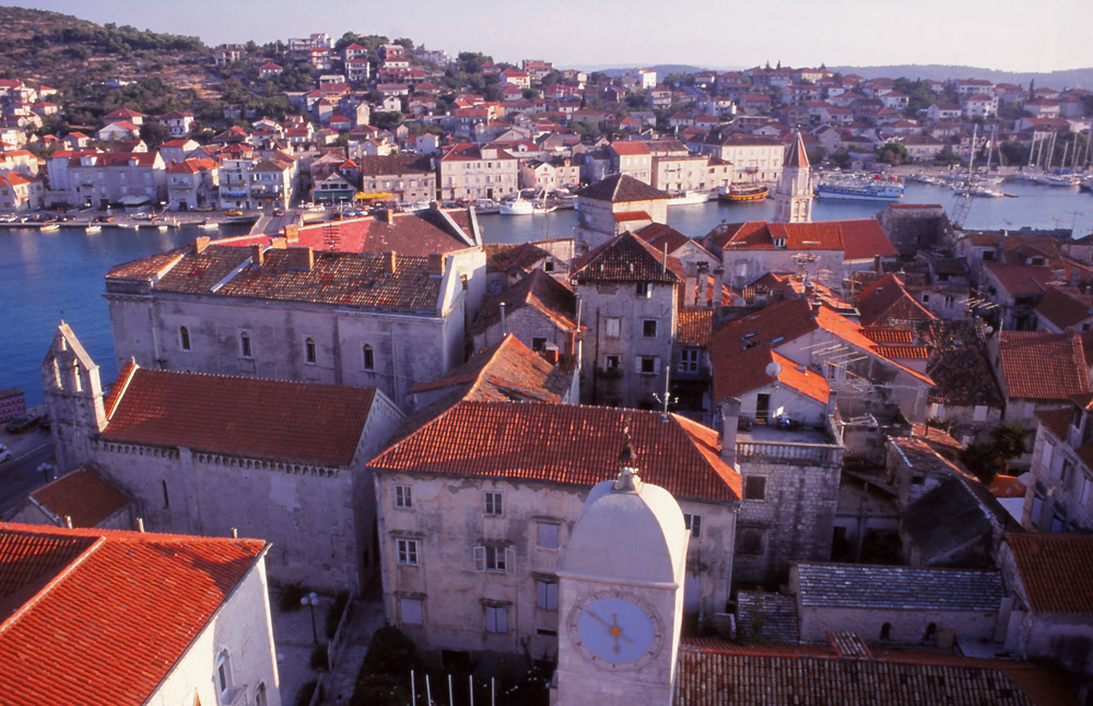 Croatia, 1999: The historic town of Trogir is known for its Venetian architecture
