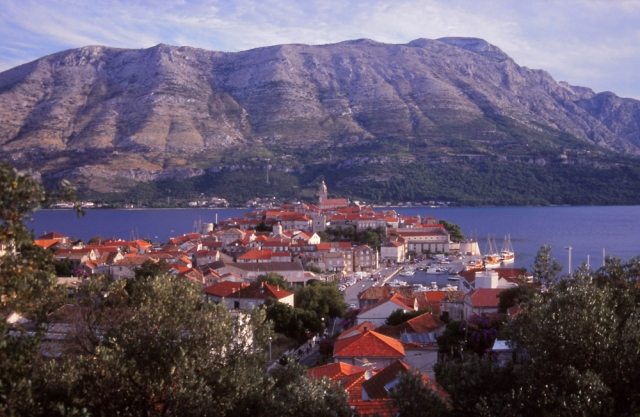 Croatia, 1999: The island town of Korčula is the supposed birthplace of the explorer Marco Polo