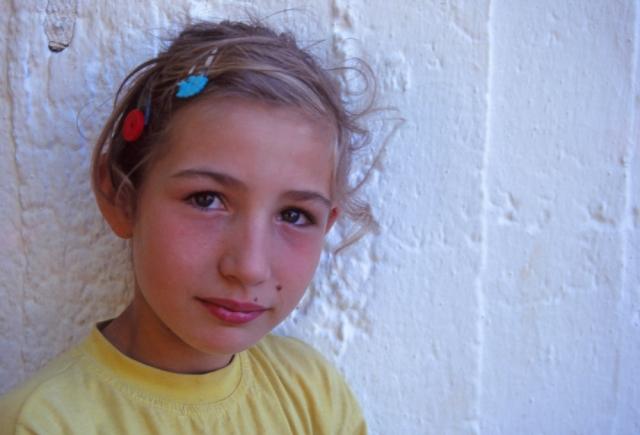 Kosovo, 1997: Girl in the Serbian quarter of Prizren