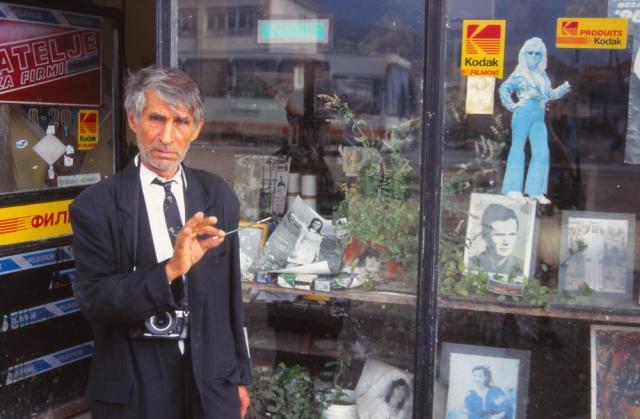 Macedonia, 1999: An eccentric, but very hospitable, photographer and artist in Debar, an ethnic Albanian town near the Kosovo border