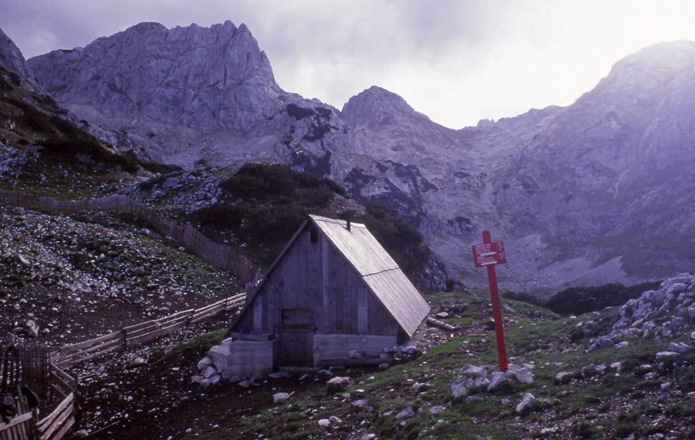 Montenegro, 1999: Cowherd's hut high in Durmitor National Park