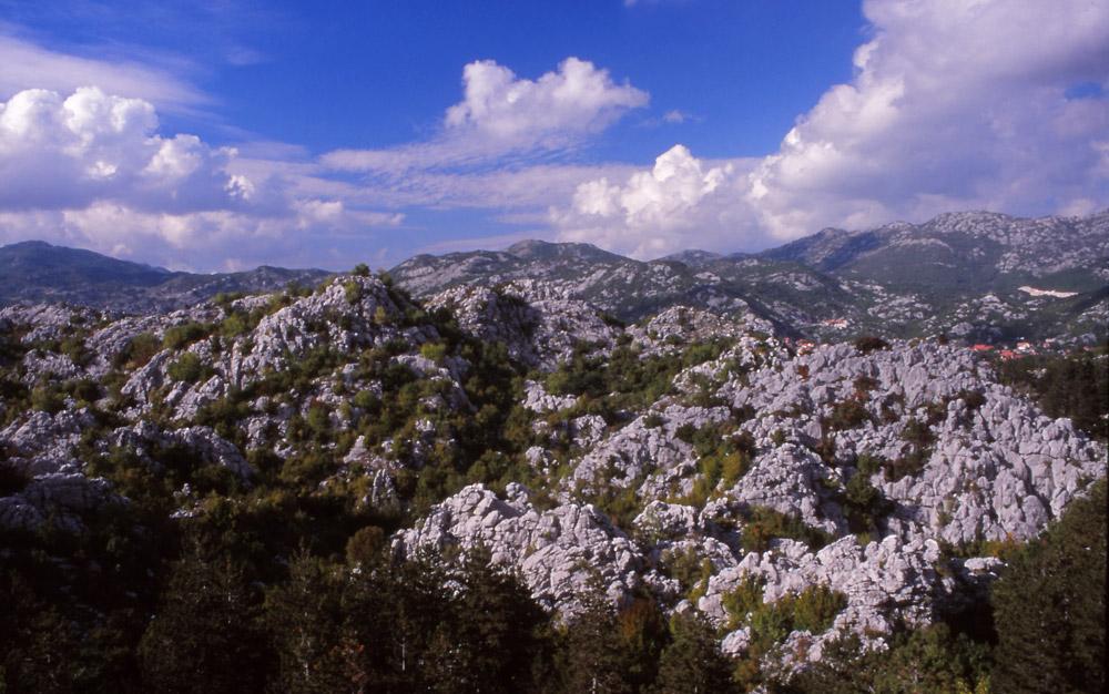 Montenegro, 1999: Typically rugged landscape in Montenegro