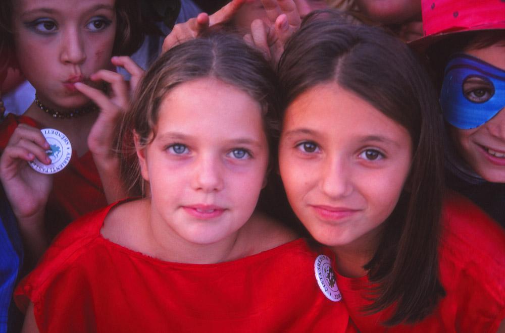 Montenegro, 1999: Children in Ulcinj at a UNHCR-organised festival after the Kosovo War