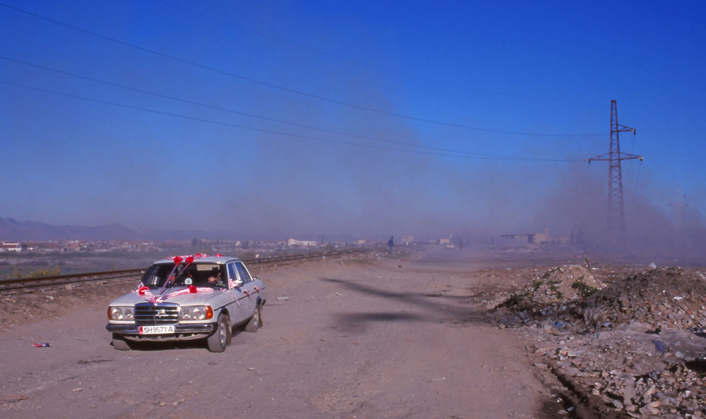 Rubbish collection came to a halt during the unrest of 1996-97; by 1999 cities like Shkodra were ringed by belts of smouldering rubbish, making an odd backdrop for a bridal car