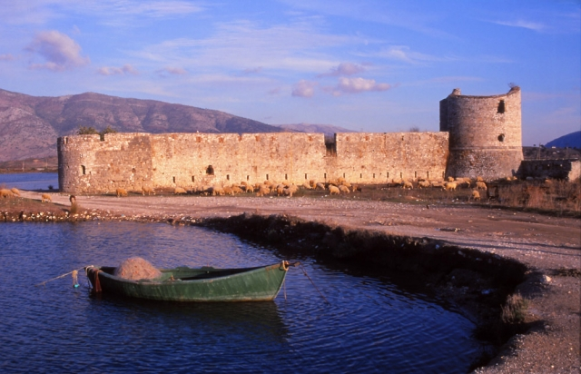 Sheep graze at a fortress at Butrint in southern Albania