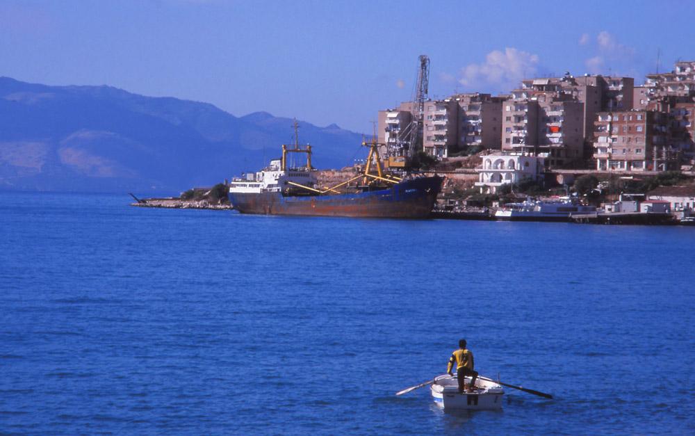 The port city of Saranda in southern Albania