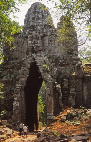 """The western gate of Angkor Thom (""""Great City""""), the 12th century capital of the Khmer Empire"""