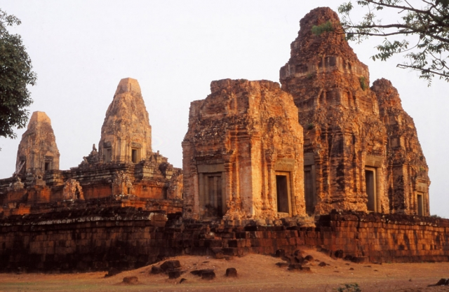 The ruins of Pre Rup, a funerary temple built in 944-68