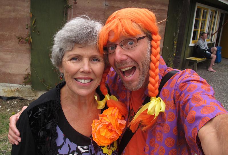 The author with Whangārei Mayor Sheryl Mai at Koninginnedag celebrations in 2014